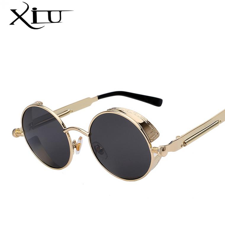 round designer sunglasses  Round Metal Sunglasses Steampunk Men Women Fashion Glasses ...